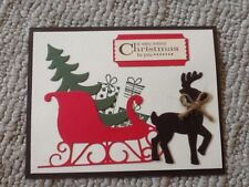 Sleigh ride presents Christmas card kit of 10 made w/ Stampin' Up!