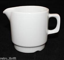 "Vintage Figgjo Norway Porcelain All White Creamer Small Jug 8cm  3 1/8"" Tall"