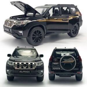 1/32 Toyota Land Cruiser Prado SUV Model Car Diecast Toy Vehicle Soound Black