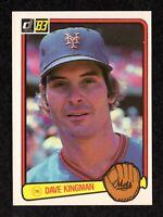 1983 Donruss #301 Dave Kingman New York Mets Baseball Card NM+