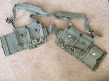More details for named sandringham home guard browning automatic rifle ammo. belt & web. gaiters