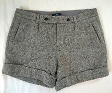 Gap Gray Cuffed Wool Blend Womens Dress Shorts Size 10 (N9#2829)