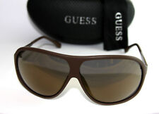 Genuine GUESS GU6828-MBRN-6F Men's Aviator Sunglasses Mirrored Lens BROWN NEW!