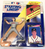 NEW TOM GLAVINE BRAVES 1992 STARTING LINEUP Figure-SPECIAL SERIES CARD POSTER