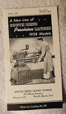 1938 South Bend precision lathes catalog Booklet, Vintage,screw cutting,lathe