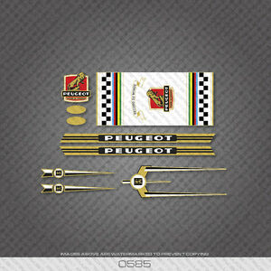 0585 Peugeot Bicycle Frame Stickers - Decals - Transfers