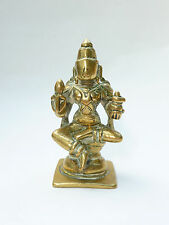 Antique Indian 17th/18th Century Bronze Vishnu Seated Polished Estate Collection