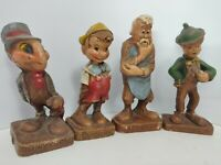 Vintage FAUX WOOD Syroco figurines by Walt Disney Prod. Est. from the 1930s