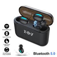 Bluetooth 5.0 Stereo Headset In-Ear True Wireless Earphone Earbud Headphone Mic