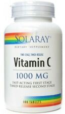SOLARAY VITAMIN C 1000MG TIMED RELEASE FAST ACTING 100 TABLETS MADE IN USA
