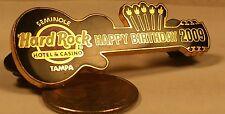 HARD ROCK CAFE Seminole Casino HAPPY BIRTHDAY 2009 Tampa Guitar Hat Pin