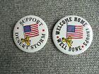 Lot of 2 Vintage Operation Desert Storm Patriotic Pinback Buttons
