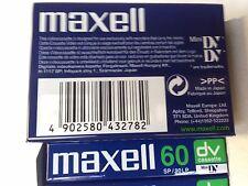 paquet de 5 cassettes video Mini-DV 60mn pour camescope
