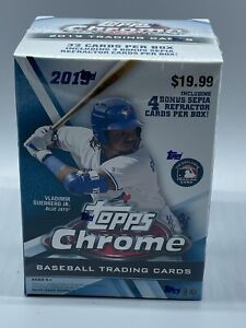 2019 Topps Chrome Baseball 8 Pack Blaster Box FACTORY SEALED