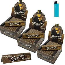 Cartine SMOKING BROWN Lunghe king size marroni non trattate 150 pz  3 BOX