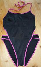 Badeanzug, Einteiler, Badebekleidung, schwarz/pink, Größe 38/40, Neuwertig