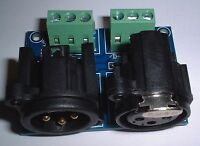 3 Pin XLR DMX interface PCB for use with our relay control PCB UK stock