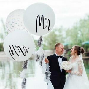 Mr and Mrs 36in Latex Balloon Set - Just Married Wedding Day 36 inch Decoration