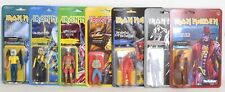 """EDDIE Iron Maiden ALL 7 figures from WAVE 2  Super 7 ReAction 3.75"""" Figure NEW"""