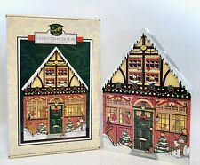BYERS CHOICE Traditions Wooden Christmas House Advent Calendar IOB