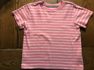 Hanna Andersson Striped Shirt Girls Pink & White Top EUC Size 100 4