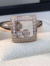 Chopard Happy Diamonds Rose Gold Floating Diamonds Ring 82/9224 Brand New