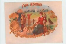 Fine Record METAL Cigar Box Top Advertising Sign - Hunting - Trap Shooting -