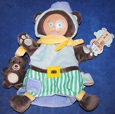 Doudou marionnette  Mario bouille de doudou Doudou & Cie ourson bleu neuf