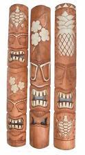 3 Tiki Masks 100cm 3 Tiki Wooden Masks in Hawaii Wall Mask Mask Set Wall Masks