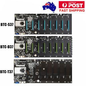 BTC-S37 BTC-T37 BTC-D37 Mining Motherboard 8 GPU Crypto DDR3 VGA for Bitcoin