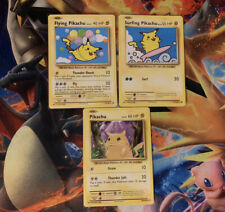 Flying Pikachu and Surfing Pikachu XY Evolutions Secret Rares + BONUS PIKACHU!
