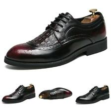 Brogue Mens Leisure Leather Shoes Carved Pointy Toe Oxfords Nightclub Retro Flat