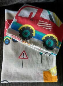 Boys/Toddler Cot Bedding Set with Pillowcase, Reversible Vehicle Pattern
