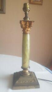 Pied de lampe en bronze et onyx