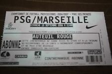 TICKET )) PSG V MARSEILLE OM )) saison 2006/2007