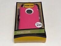 For Apple iPhone 6/6S Heavy Duty Defender Shockproof Belt Clip Case Cover Pink