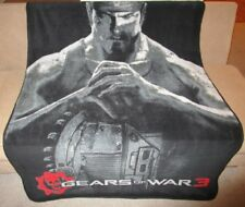 New Close Up Marcus Gears of War 3 Plush Fleece Throw Gift Blanket Video Game Xl