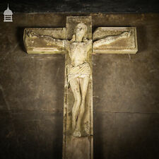 More details for a life-sized jesus on the cross on a huge 14ft x 6ft crucifix carved in stone