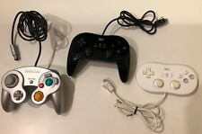 Nintendo Gamecube Wii Controllers Authentic Genuine Used