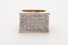 $10,000 7ct Genuine RED BLUE WHITE Diamond 14k Gold Band Ring HEAVY 24g