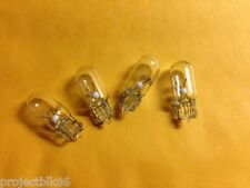 (4)WEDGE BASE LAMPS/BULB-8V-300mA-RECEIVER-/SX1250/QRX-9001/TU-9900 METER DIAL