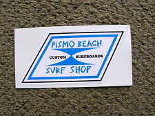 vintage style pismo beach surf shop surfboard sticker surfing longboard large Ca