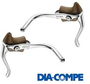 Dia-Compe DC165 Duel Brake Levers Extension Safety Double Black or Brown Hoods