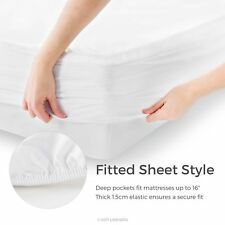 Waterproof Mattress Protector Fitted Bed Cover Dust Mite Cal King Size Five Side