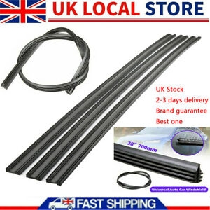 """6X 28"""" Wiper Blade Refill Universal Cut To Size Replacement Rubber Strip NEW UK"""