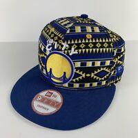 GOLDEN STATE WARRIORS THE CITY NEW ERA 9FIFTY Snapback Hat Cap Rare Aztec Design