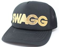 Swagg Black Gold Foam trucker mesh back Hat Cap Snapback New