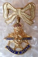 Badge- Notts & Derby Regiment Sweetheart Brooch Badge (Enamel, Org*)