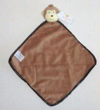 New Nat & Jules Monkey Baby Security Blanket Tan Brown Velour Satin NWT P63