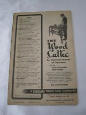 Vintage Sears Roebuck Wood Lathe Operating Instructions and Parts List